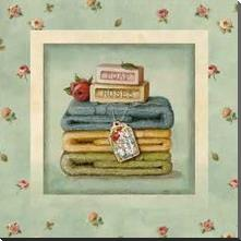 Soap Towels art print poster with block mounting