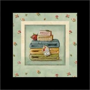 Soap Towels art print poster with simple frame