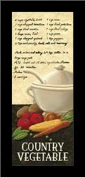 Country Vegetable art print poster with simple frame