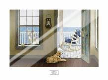 Looking Over Sea art print poster with laminate