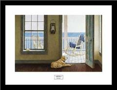 Looking Over Sea art print poster with simple frame