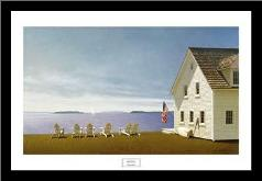 Summer Retreat art print poster with simple frame