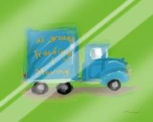 All Around Trucking Moving art print poster with laminate