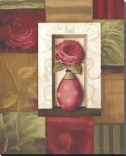 Rose Study I art print poster with block mounting