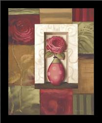 Rose Study I art print poster with simple frame