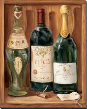 Wine Cabinet II art print poster with block mounting