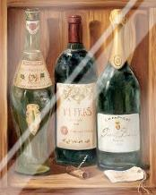 Wine Cabinet II art print poster with laminate
