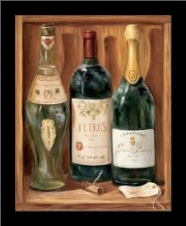 Wine Cabinet II art print poster with simple frame