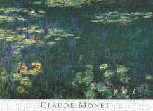 Waterlilies: Green Reflections I art print poster transferred to canvas