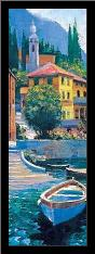 Lake Como Crossing Panel I art print poster with simple frame