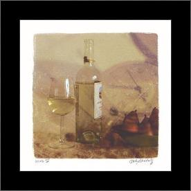 Wine IV art print poster with simple frame