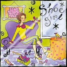 Shoe Girl art print poster with laminate