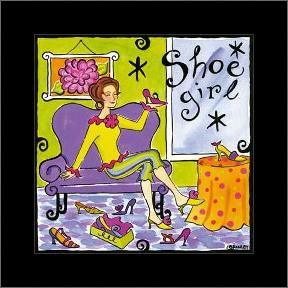 Shoe Girl art print poster with simple frame