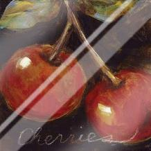 Ripe Cherries art print poster with laminate