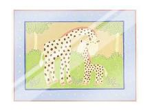 Giraffes art print poster with laminate