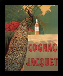 Cognac Jacquet art print poster with simple frame