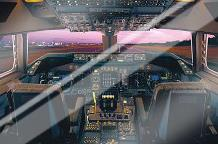Airplane - Boeing 747-400 Flight Deck art print poster with laminate