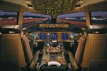 Airplane - Boeing 777-200 Flight Deck art print poster transferred to canvas