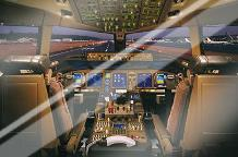 Airplane - Boeing 777-200 Flight Deck art print poster with laminate