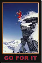 Go for it (Extreme Sport) art print poster with block mounting