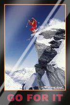 Go for it (Extreme Sport) art print poster with laminate