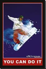 You Can Do it (Extreme Sport) art print poster with block mounting