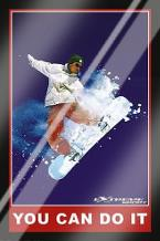 You Can Do it (Extreme Sport) art print poster with laminate