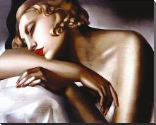 Dormeuse art print poster with block mounting