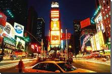 New York - Times Square art print poster with block mounting