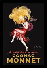 Cognac Monnet art print poster with simple frame
