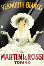 Martini Rossi art print poster with laminate