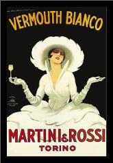 Martini Rossi art print poster with simple frame