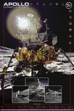 Apollo II Lunar Landings art print poster transferred to canvas