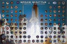 Space Shuttle - Mission Insignias art print poster transferred to canvas