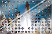 Space Shuttle - Mission Insignias art print poster with laminate