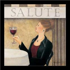 Salute II art print poster with simple frame
