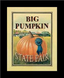 Big Pumpkin art print poster with simple frame