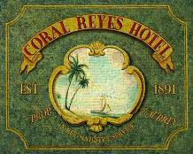 Coral Reyes Hotel art print poster transferred to canvas
