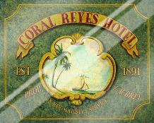 Coral Reyes Hotel art print poster with laminate