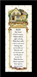 Bless art print poster with simple frame