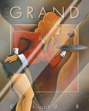 Grand Club art print poster with laminate