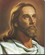 Christ art print poster with block mounting