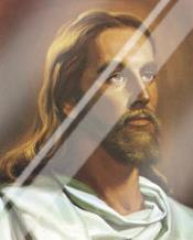 Christ art print poster with laminate