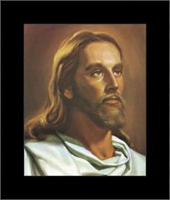 Christ art print poster with simple frame