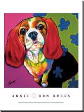 Annie art print poster with block mounting