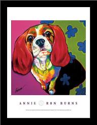 Annie art print poster with simple frame