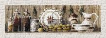 Assorted Jars And Plates art print poster transferred to canvas
