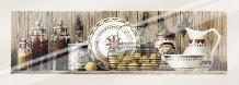 Assorted Jars And Plates art print poster with laminate