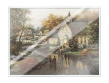 Country Church art print poster with laminate