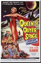 Queen of Outer Space art print poster with block mounting